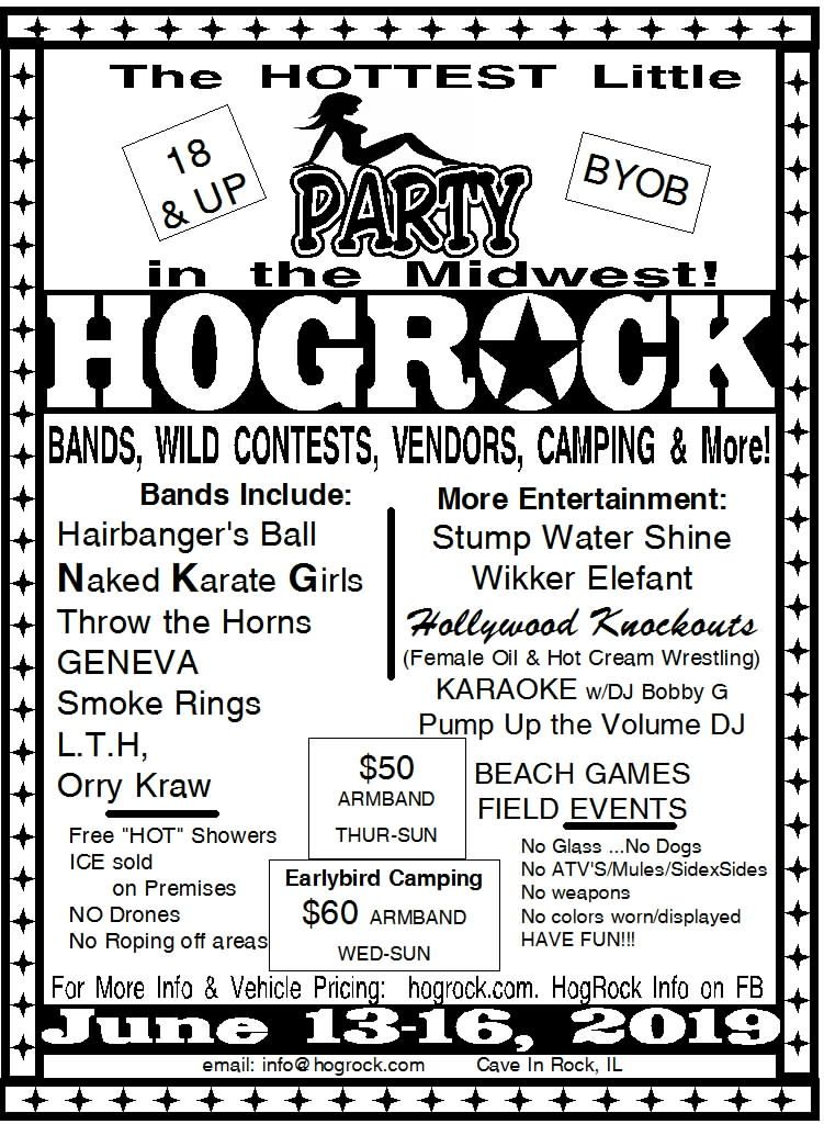 Hogrock 2019 June promo flyer